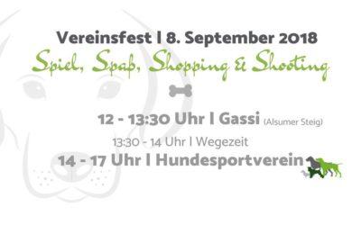 Vereinsfest | Spiel, Spaß, Shopping & Shooting